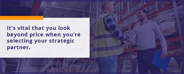 Selecting your strategic partner