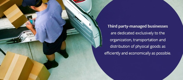 Third party-managed businesses are dedicated exclusively to the organization, transportation and distribution of physical goods as efficiently and economically as possible.