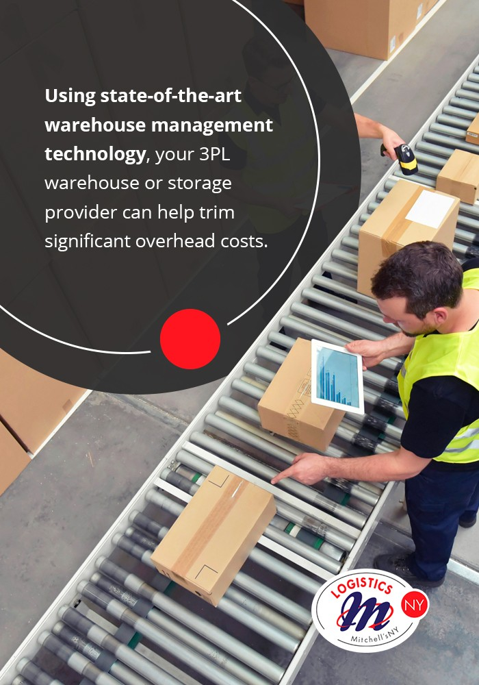 Using state-of-the-art warehouse management technology, your 3PL warehouse or storage provider can help trim significant overhead costs.